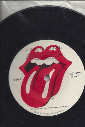 The Rolling Stones-promotional 45 Record by charlie watt, ron wood, bill wyman, mick jagger keith richards