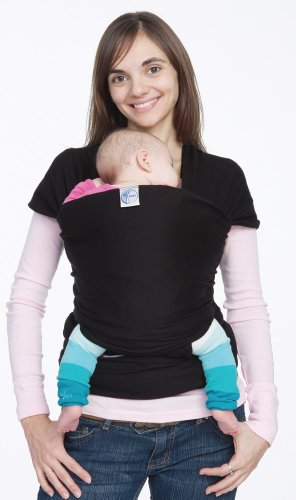 Moby Wrap Original 100% Cotton Solid Baby Carrier, Black