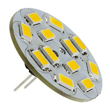 G4 6W 550-570Lm 2700-3000K Warm White Light Vertical Pin Led Spot Bulb (12V)