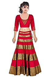 Crazy Butik women Bhagalpuri lehenga Choli[ LDB1046_Pink_free size]
