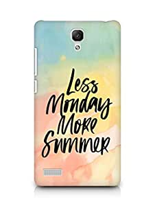 AMEZ less monday more summer Back Cover For Xiaomi Redmi Note 4G