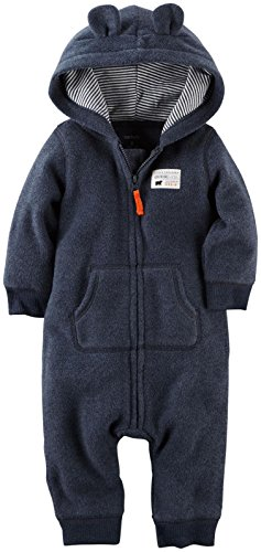 Carter's Baby Boys' Hooded/Eared Romper (Baby) – Bear – 9 Months