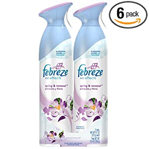 Febreze Air Effects Spring & Renewal Air Freshener, 9.7-Ounce (Pack of 6)