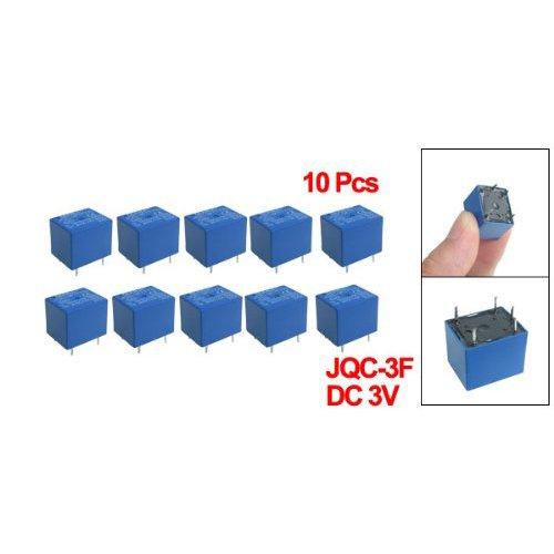 Toogoo(R) 10 X Dc 3V Coil 10A/125V Ac 10A/28V Dc 5 Pins Spst Power Relay Jqc-3F