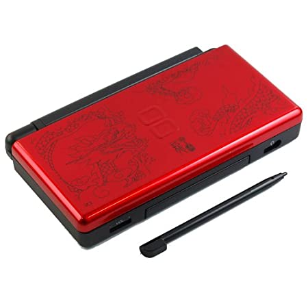 China Dragon Red & Black - Nintendo DS Lite Complete Full Housing Shell Case Replacement Repair