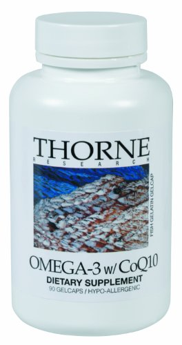 Thorne Research Omega-3 With Coq10, 90 Gelcaps