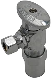Keeney 2880PCLF 1/2-Inch Nom CPVC by 3/8-Inch O.D. Lead Free Quarter Turn Angle Transition Valve, Chrome
