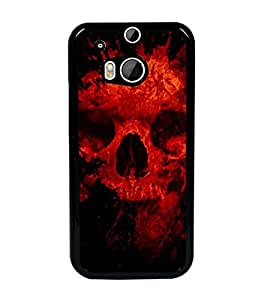 PrintDhaba Scary Skeleton D-4341 Back Case Cover for HTC ONE M8 (Multi-Coloured)