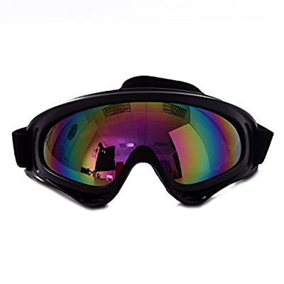 HDE Outdoor Winter Sports Snowmobile Ski Goggles Snowboarding Protective Eyewear with Scratch Resistant Lens