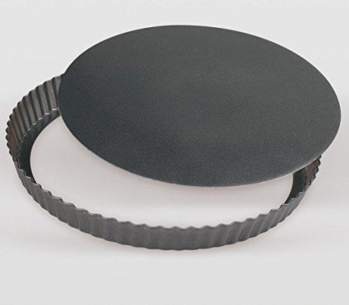 Mayuela - Moule à Tarte/Moule à Quiche - Fond Amovible - Revêtement Antiadhésif - Ø 24 * 3 cm