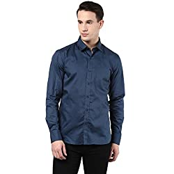 MENS COTTON SHIRT BLUE M