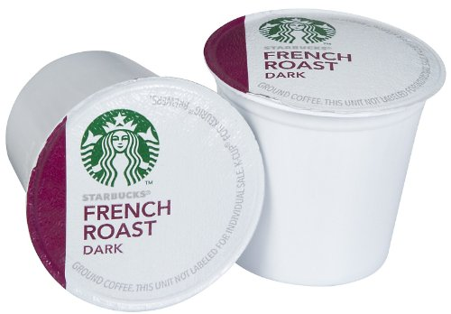 Starbucks French Roast Dark, K-Cup for Keurig Brewers, Dark Roast Coffee, 54 Count (Coffee Bean French Brew Pods compare prices)