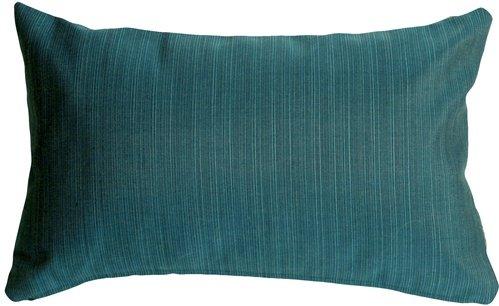 Pillow Decor - Sunbrella Dupione Deep Sea 12x20 Outdoor Throw Pillow