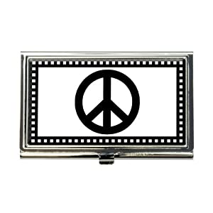 Amazon Peace Sign Business Credit Card Holder Case