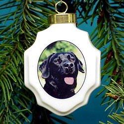 Christmas Ornament: Black Labrador Retriever