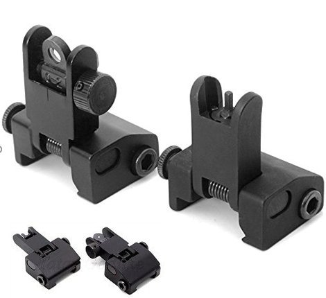 Check Out This Flip-open Front and rear Iron Sight Set for Picatinny Rail
