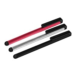 3 Pack (Red/Black/Silver) Aluminum 4.5