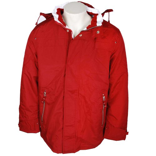Harbour Bay Mens Red Nautical Padded Jacket in Size Small