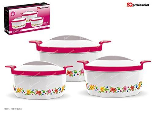 fionna-lot-de-3-cocottes-hot-pot-chaud-de-plats-vert-rose-bleu-orange