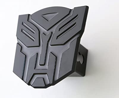 "5'' Transformer Autobot Black 3d Logo Trailer Metal Hitch Cover Fits 2"" Receivers"