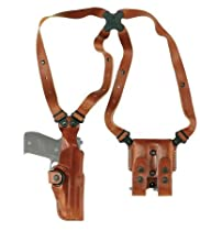 Galco Vertical Shoulder Holster System for S&W N FR .44 Model 29/629 4-Inch (Tan, Ambi)