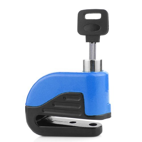 Blue Anti Thief Sound Security Alarm Electron Disc Brake Lock 6mm Pin for Motorcycle Motorbike Safety Scooter Moped