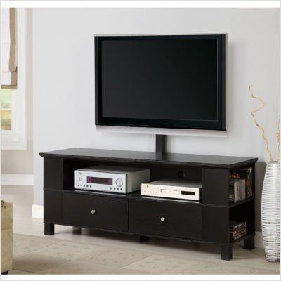 Cheap Home Loft Concept WLK1247 60″ Wood TV Stand with Mount and Multi-purpose Storage – Black (WLK1247)
