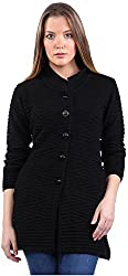 Montrex Women's Plain Coats (Montrex-6410Black, Black, XL)