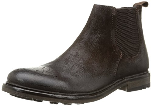 Base London - Sodium, Stivale Chelsea da uomo, marrone (greasy suede brown), 43