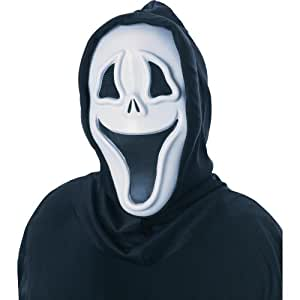 Smiley Smiling Evil Scream Mask Halloween Fancy Dress ...