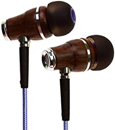 Symphonized NRG 2.0 Premium Genuine Wood In-ear Noise-isolating Headphones Earbuds Earphones with Innovative Shield Technology Cable and Mic (Purple Metallic)