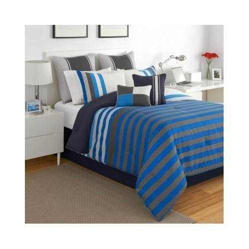 Boys blue amp black reversible twin comforter