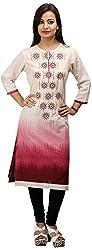 Khushi Garments Women's Cotton Regular Fit Kurta (Khushi025_L, Multicolor, Large)
