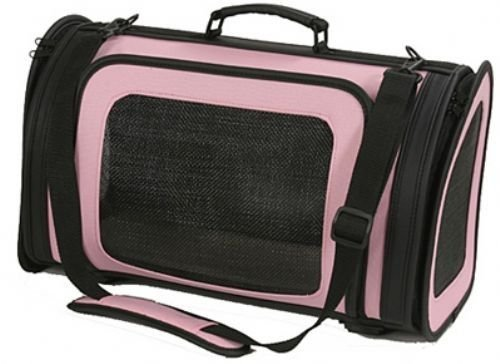 Petote Kelle Pet Carrier Bag, Large, Light Pink