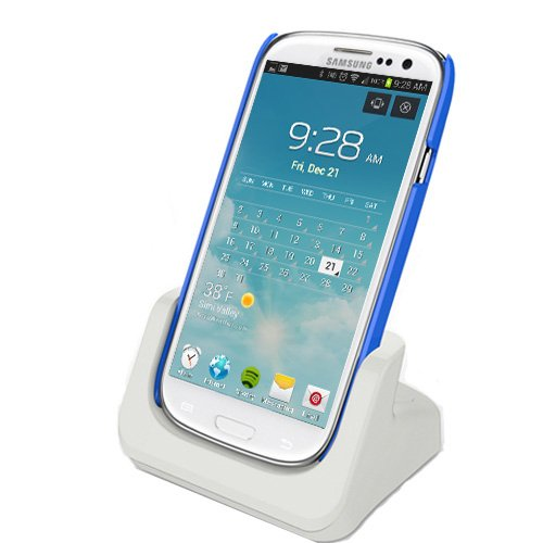 Rnd Dock For Samsung Galaxy Note Ii (2) With Audio Out And Dock Mode (Compatible Without Or With A Slim-Fit Case) (White)