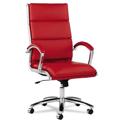 Alera Neratoli High-Back Swivel/Tilt Chair, Red Soft-Touch L