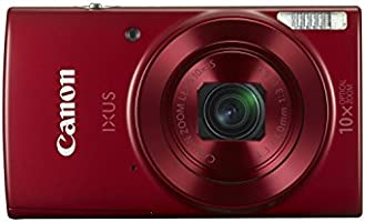 Canon IXUS 180 Digital Camera (Red) with 8GB Memory Card and Camera Case