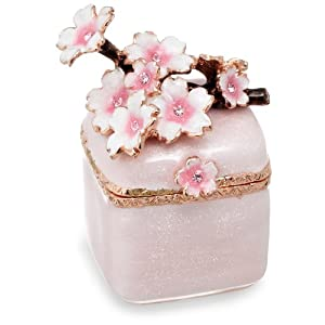 [ピィアース] PIEARTH 【ギフトにおすすめ】キラキラ可愛い宝石箱 ジュエリーボックス 小枝桜(ホワイト) EX452-1