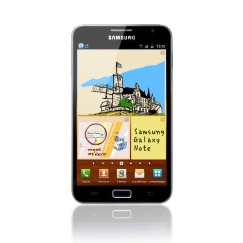 Samsung Galaxy Note N7000 Smartphone (13.5 cm (5.3 Zoll) HD Super AMOLED-Touchscreen, 8 MP Kamera, Android 2.3 OS) schwarz