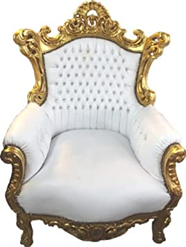 Baroque Chair Al Capone White / Gold - Baroque furniture