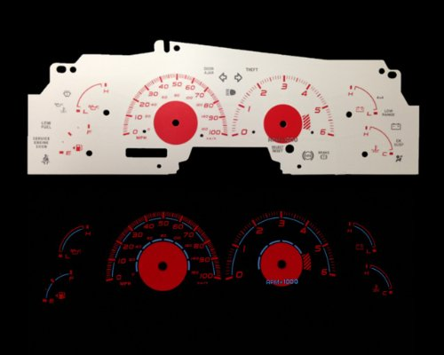 Brand New White Face Red Indigo Reverse Glow Gauges For 99-02 F150 Expedition Navigator (I-278rd) (Harley Ford F150 Accessories compare prices)
