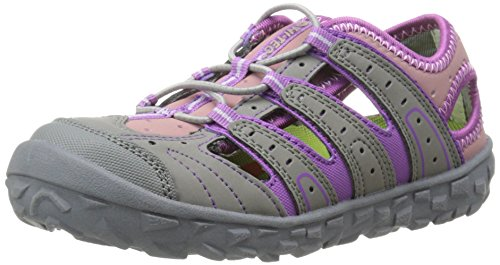 Hi-Tec Tortola Escape JR Aqua Shoe (Toddler/Little Kid/Big Kid),Warm Grey/Orchid/Horizon,6 M US Big Kid