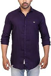Trezer Live Men's Casual Shirt (Purple, X-Large)