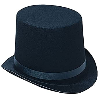 Black Felt Top Costume Hat by Funny Party Hats