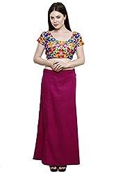 Pistaa Women's Cotton Magenta Colour Inskirt Saree petticoats