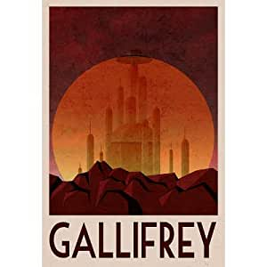 Amazon.com: (13x19) Gallifrey Retro Travel Poster: Doctor Who Poster: Posters & Prints