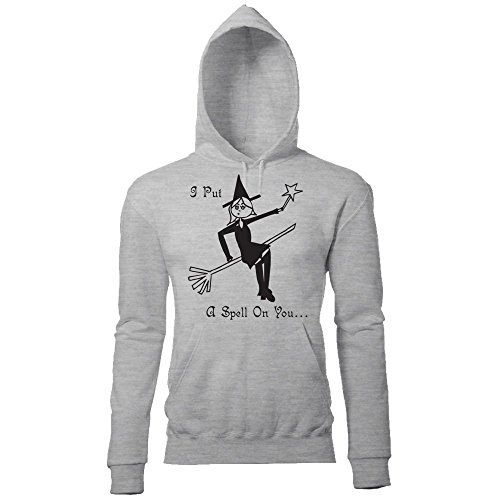 Batch1 Women's Halloween Witch I Put A Spell On You Printed Fancy Dress Hoodie