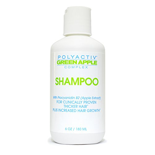 Hair Regrowth Shampoo - Polyactiv Green Apple Complex for Thickening Hair Growth and Restoration - Fast Acting All Natural Formula with Procyanidin B2 Reduces Thinning (Apple Polyphenol Extract compare prices)