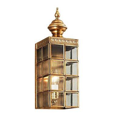 1 Light Antique Style Golden Wall Light - Methenafsdgx