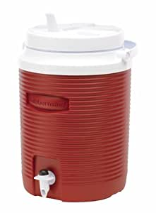 Rubbermaid Victory Jug Water Cooler, Modern Red, 2-gallon (FG153004MODRD)